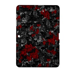 Gray And Red Decorative Art Samsung Galaxy Tab 2 (10 1 ) P5100 Hardshell Case  by Valentinaart