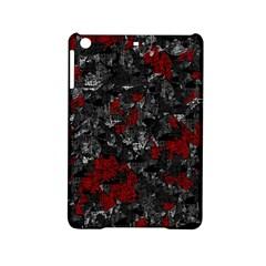 Gray And Red Decorative Art Ipad Mini 2 Hardshell Cases by Valentinaart