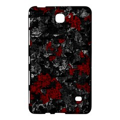 Gray And Red Decorative Art Samsung Galaxy Tab 4 (7 ) Hardshell Case  by Valentinaart