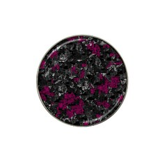 Magenta And Gray Decorative Art Hat Clip Ball Marker (4 Pack) by Valentinaart