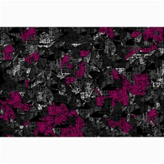 Magenta And Gray Decorative Art Collage Prints by Valentinaart