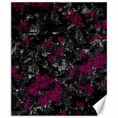 Magenta And Gray Decorative Art Canvas 8  X 10  by Valentinaart