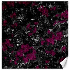 Magenta And Gray Decorative Art Canvas 16  X 16   by Valentinaart