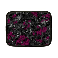 Magenta And Gray Decorative Art Netbook Case (small)  by Valentinaart