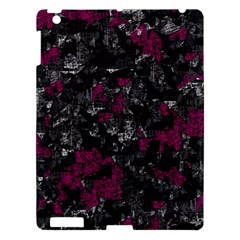 Magenta And Gray Decorative Art Apple Ipad 3/4 Hardshell Case by Valentinaart