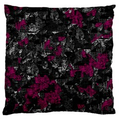 Magenta And Gray Decorative Art Large Cushion Case (two Sides) by Valentinaart