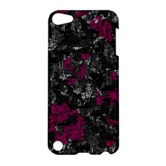 Magenta And Gray Decorative Art Apple Ipod Touch 5 Hardshell Case by Valentinaart