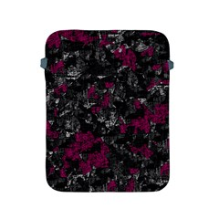 Magenta And Gray Decorative Art Apple Ipad 2/3/4 Protective Soft Cases by Valentinaart