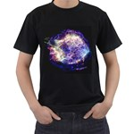 Black T with Supernova Cassiopeia A - Men s T-Shirt (Black)