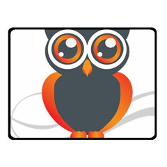 Owl Logo Fleece Blanket (Small) by Zeze
