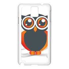 Owl Logo Samsung Galaxy Note 3 N9005 Case (White) by Zeze