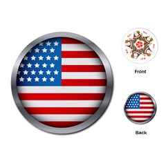 Usa Flag Playing Cards (Round)  by Zeze