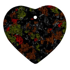 Autumn Colors  Heart Ornament (2 Sides) by Valentinaart