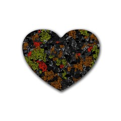 Autumn Colors  Heart Coaster (4 Pack)  by Valentinaart