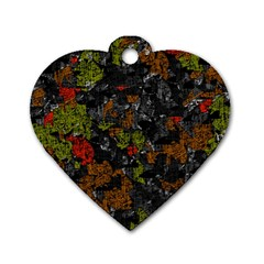 Autumn Colors  Dog Tag Heart (one Side) by Valentinaart