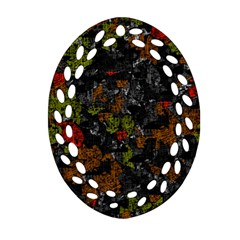 Autumn Colors  Oval Filigree Ornament (2 Side)  by Valentinaart