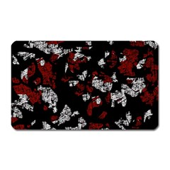 Red, White And Black Abstract Art Magnet (rectangular) by Valentinaart