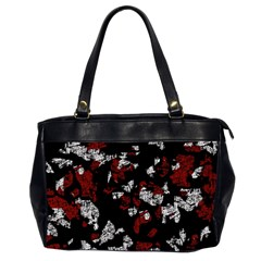 Red, White And Black Abstract Art Office Handbags (2 Sides)  by Valentinaart