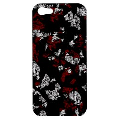 Red, White And Black Abstract Art Apple Iphone 5 Hardshell Case by Valentinaart