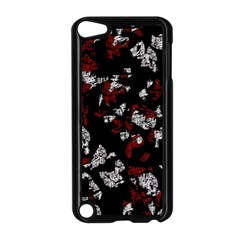 Red, White And Black Abstract Art Apple Ipod Touch 5 Case (black) by Valentinaart