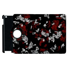 Red, White And Black Abstract Art Apple Ipad 3/4 Flip 360 Case by Valentinaart