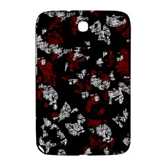 Red, White And Black Abstract Art Samsung Galaxy Note 8 0 N5100 Hardshell Case  by Valentinaart