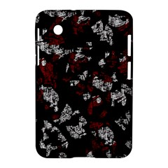 Red, White And Black Abstract Art Samsung Galaxy Tab 2 (7 ) P3100 Hardshell Case  by Valentinaart