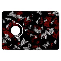 Red, White And Black Abstract Art Kindle Fire Hdx Flip 360 Case by Valentinaart