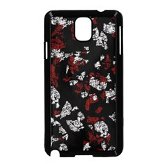 Red, White And Black Abstract Art Samsung Galaxy Note 3 Neo Hardshell Case (black) by Valentinaart