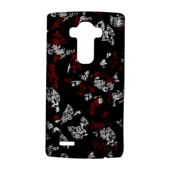 Red, white and black abstract art LG G4 Hardshell Case by Valentinaart