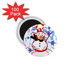Snowman 1 75  Magnets (100 Pack)  by Valentinaart
