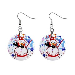 Snowman Mini Button Earrings by Valentinaart