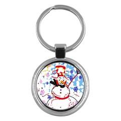 Snowman Key Chains (round)  by Valentinaart