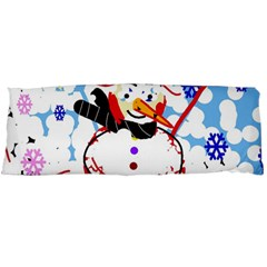 Snowman Body Pillow Case Dakimakura (two Sides) by Valentinaart