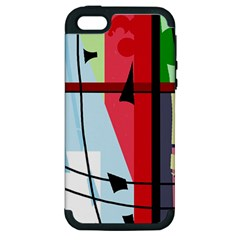 Window Apple Iphone 5 Hardshell Case (pc+silicone) by Valentinaart