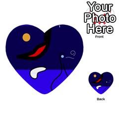 Night Duck Multi Purpose Cards (heart)