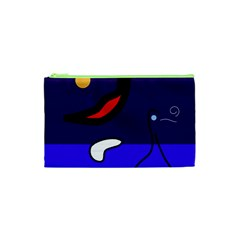 Night Duck Cosmetic Bag (xs) by Valentinaart