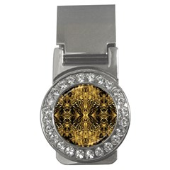 Beautiful Gold Brown Traditional Pattern Money Clips (cz)