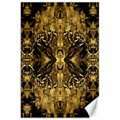 Beautiful Gold Brown Traditional Pattern Canvas 20  X 30   by Costasonlineshop