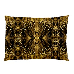 Beautiful Gold Brown Traditional Pattern Pillow Case by Costasonlineshop