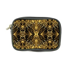 Beautiful Gold Brown Traditional Pattern Coin Purse