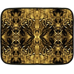 Beautiful Gold Brown Traditional Pattern Double Sided Fleece Blanket (mini)  by Costasonlineshop