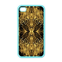 Beautiful Gold Brown Traditional Pattern Apple Iphone 4 Case (color)