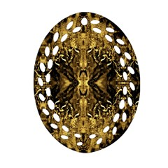 Beautiful Gold Brown Traditional Pattern Ornament (oval Filigree)