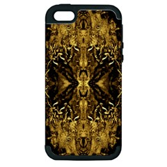 Beautiful Gold Brown Traditional Pattern Apple Iphone 5 Hardshell Case (pc+silicone) by Costasonlineshop