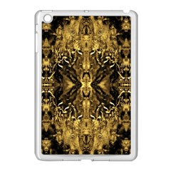 Beautiful Gold Brown Traditional Pattern Apple Ipad Mini Case (white)