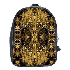 Beautiful Gold Brown Traditional Pattern School Bags (xl)