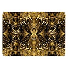 Beautiful Gold Brown Traditional Pattern Samsung Galaxy Tab 8 9  P7300 Flip Case