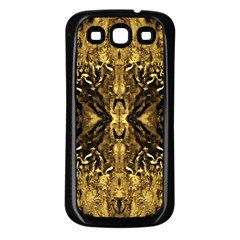 Beautiful Gold Brown Traditional Pattern Samsung Galaxy S3 Back Case (black)