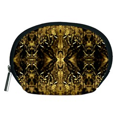 Beautiful Gold Brown Traditional Pattern Accessory Pouches (medium)